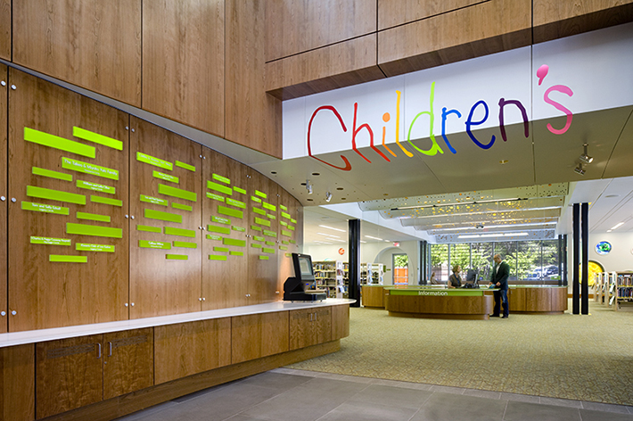 Los Gatos Library Donor Wall and Children's Entry